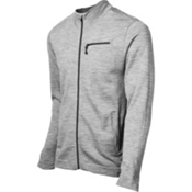 SmartWool Sportknit Full-Zip Mens Sweater, Silver Gray Heather, medium