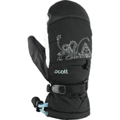 Scott Tumbler Girls Mittens, Black-Aruba Blue, medium