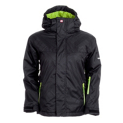 Quiksilver Last Mission Boys Snowboard Jacket, Black, medium