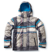 Quiksilver Last Mission Boys Snowboard Jacket, Smoke Stripe, medium