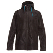 Quiksilver Hoody 5k Snowboard Mens Soft Shell Jacket, Burgandy, medium