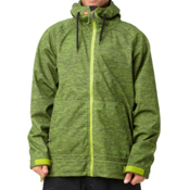 Quiksilver Hoody 5k Snowboard Mens Soft Shell Jacket, Lime, medium