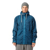 Quiksilver Hoody 5k Snowboard Mens Soft Shell Jacket, Blue Stone, medium