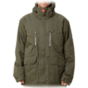 Quiksilver Piranha 8K Mens Insulated Snowboard Jacket, Army Green, medium