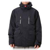 Quiksilver Piranha 8K Mens Insulated Snowboard Jacket, Black, medium