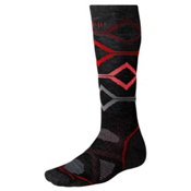 SmartWool PHD Medium Snowboard Socks, Black-Red, medium