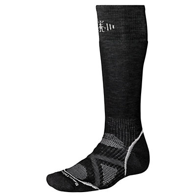 SmartWool PhD Medium Snowboard Socks, Black, viewer