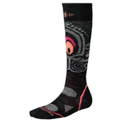SmartWool PHD Light Womens Snowboard Socks, Black, medium