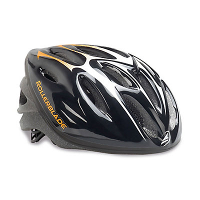 Rollerblade Workout Mens Fitness Helmet 2017, Black-Orange, viewer