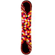JoyRide Checkers Black Womens Snowboard, Black-Pink, medium