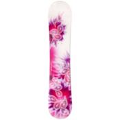 JoyRide Drops Pink Womens Snowboard, White-Pink, medium