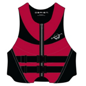 O'Brien Hinged Adult Life Jacket, Red-Black, medium