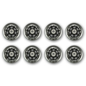 Rollerblade Wheel Kit 84MM/84A Inline Skate Wheels with SG7 Bearings - 8 Pack 2013, , medium