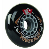 Kryptonics Powerplay Outdoor Wheels Inline Hockey Skate Wheels - 4 Pack, , medium
