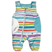 Obermeyer Arielle Bib Toddler Girls Ski Pants, Stripecicle Print, medium