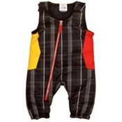 Obermeyer Max Bib Toddlers Ski Pants, Black Plaid, medium