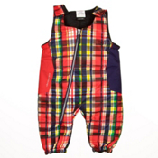 Obermeyer Max Bib Toddlers Ski Pants, Madras Plaid, medium