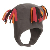 Obermeyer Tassel Fleece Kids Hat, Raven, medium