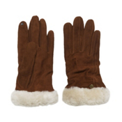 UGG Australia Classic Suede Smart Womens Gloves, Chestnut, medium