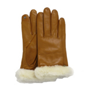 UGG Australia Classic Leather Smart Womens Gloves, Chestnut, medium