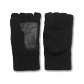 UGG Australia Fingerless Flip Mens Gloves, Black, medium