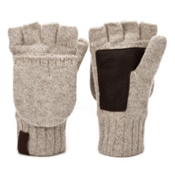 UGG Australia Fingerless Flip Mens Gloves, Oatmeal, medium