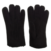 UGG Australia Shearling with Gauge Points Mens Gloves, Black, medium
