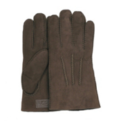 UGG Australia Shearling with Gauge Points Mens Gloves, Chocolate, medium