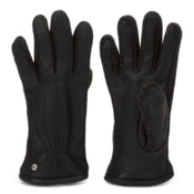 UGG Australia Leather with Knit Sidewalls Mens Gloves, Black Multi, medium