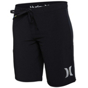 Hurley Phantom Solid 9 Inch Womens Boardshorts, Black, medium