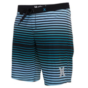 Hurley Phantom Printed 9 Inch Womens Boardshorts, Peacock Blue, medium