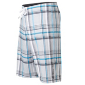 O'Neill Epic Plaid Board Shorts, Grey, medium