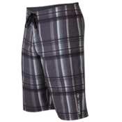 O'Neill Epic Plaid Board Shorts, Black, medium