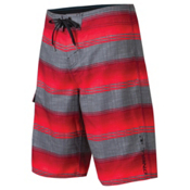 O'Neill Santa Cruz Stripe Board Shorts, Red, medium
