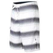 O'Neill Santa Cruz Stripe Board Shorts, White, medium