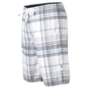 O'Neill Santa Cruz Plaid Board Shorts, White, medium