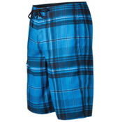 O'Neill Santa Cruz Plaid Board Shorts, Blue, medium