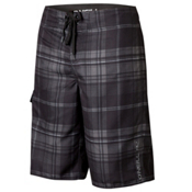 O'Neill Santa Cruz Plaid Board Shorts, Black, medium