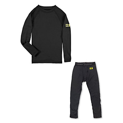 Under Armour Base 2.0 Crew Long Underwear Top & Under Armour Base 2.0 Leggings Long Underwear Bottom Kids Baselayer Outfit, , large