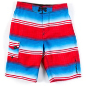 O'Neill Santa Cruz Stripe Boys Bathing Suit, Red, medium