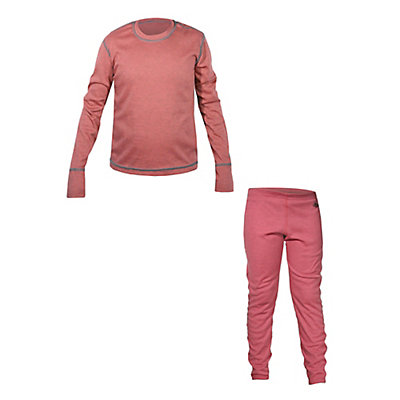 Hot Chillys Geo-Pro Crew Neck Long Underwear Top & Hot Chillys Geo-Pro Long Underwear Bottom Girls Baselayer Outfit, , large