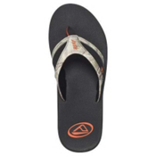Reef Realtree Mens Flip Flops, Black-Orange, medium