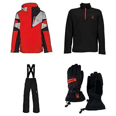 Spyder Leader Jacket & Spyder Propulsion Pants Kids Outfit, , large