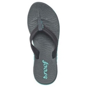 Reef Shore Drift Womens Flip Flops, Grey-Turquoise, medium