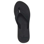 Reef Braided Cushion Womens Flip Flops, Black, medium