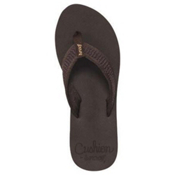 Reef Braided Cushion Womens Flip Flops, Brown, medium