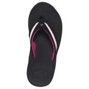 Reef Reefedge Womens Flip Flops, Black-White-Hot Pink, medium