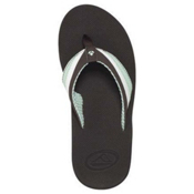 Reef Reefedge Womens Flip Flops, Brown-White-Mint, medium