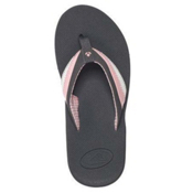 Reef Reefedge Womens Flip Flops, Charcoal-White-Pink, medium