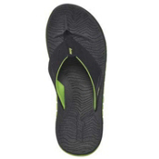 Reef Rodeo Flip Mens Flip Flops, Black-Lime Green, medium